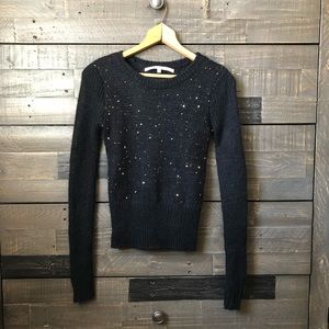 RACHEL Rachel Roy black sequined sweater. Size s